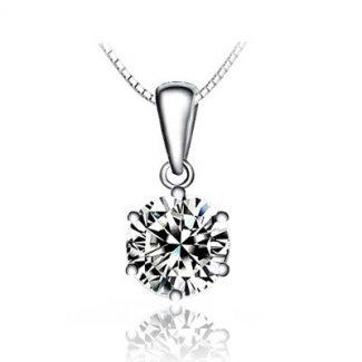 Platinum Zircon Necklace