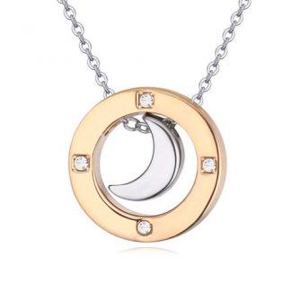 Platinum Moon Necklace